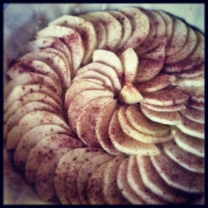 Tarte fine Pommes / Amandes